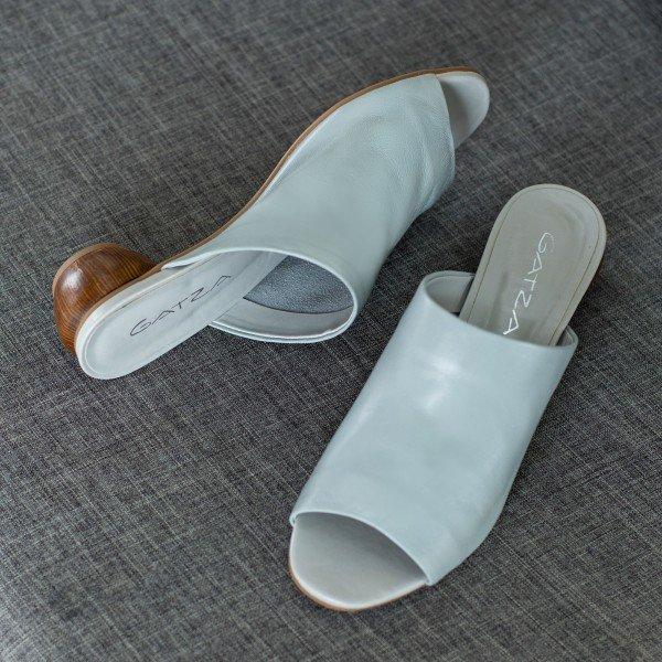 sandalia salto oval azul ceu