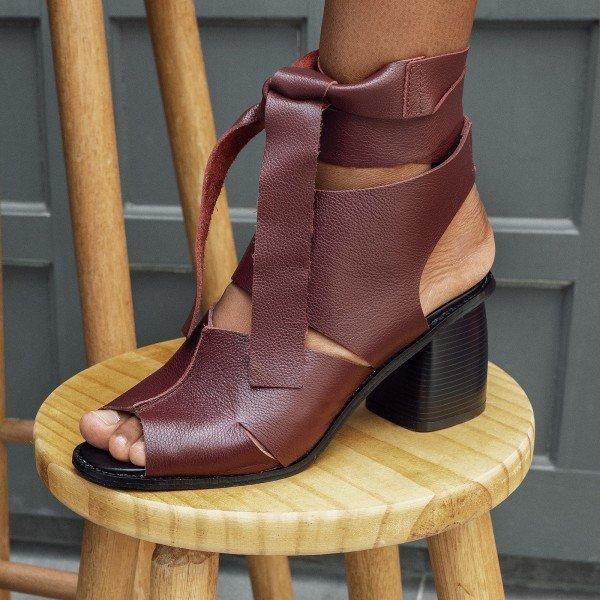 sandalia amarracao burgundy 2