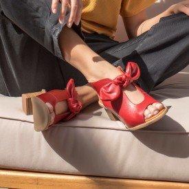 sandalia laco vermelho 2