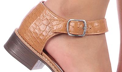 sapato texturizado bege 4