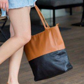 bolsa bicolor caramelo 2