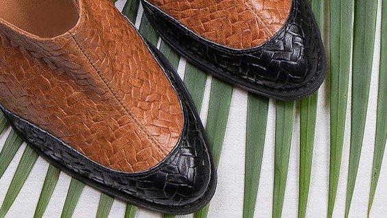 bota bicolor caramelo 2