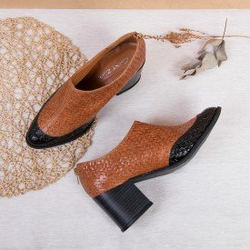 bota bicolor caramelo
