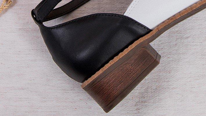 sapato bicolor preto