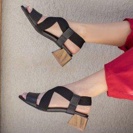 sandalia elastico preto 3