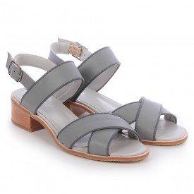 sandalia cruzada cinza 3
