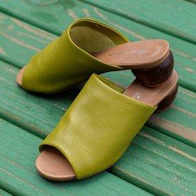 sandalia salto oval verde 2