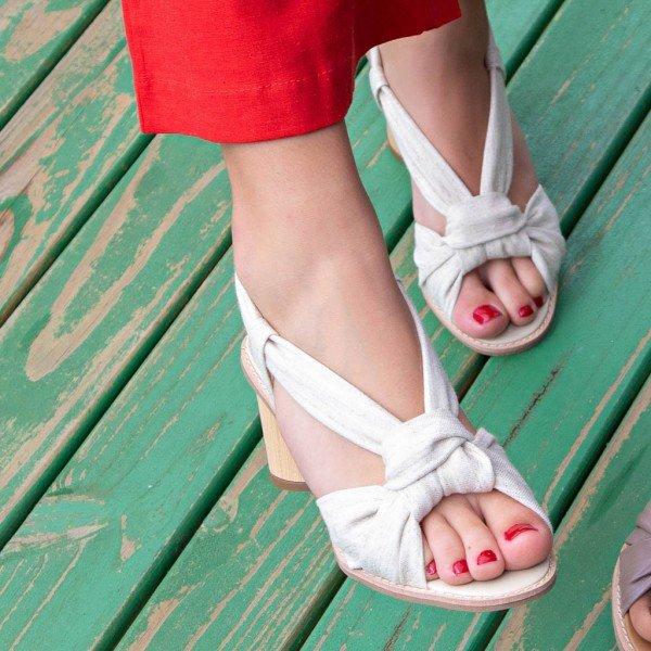 sandalia no linho