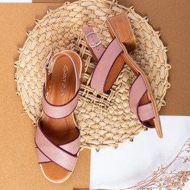 sandalia cruzada rose