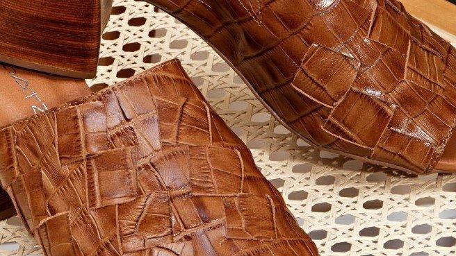 sandalia entrelacada caramelo 5