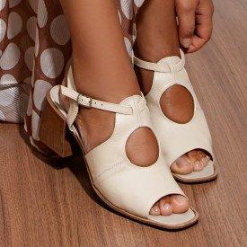 sandalia megan off white