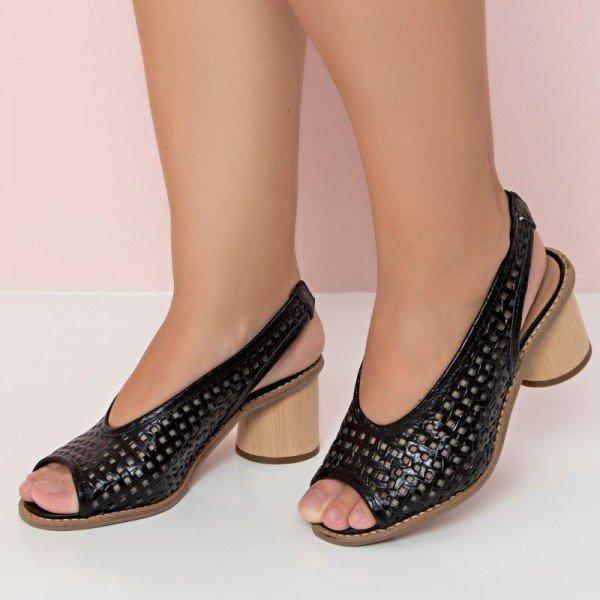 sandalia tresse preto