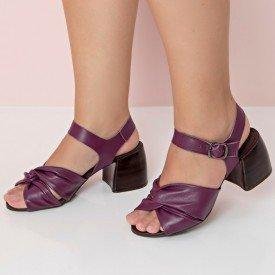 sandalia vitoria burgundy