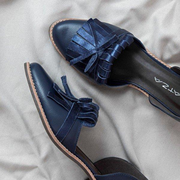 sapato franja azul 1