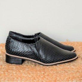sapato escama preto
