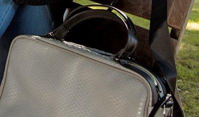 bolsa escamado cinza 3