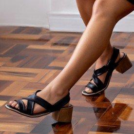 sandalia aurora preto