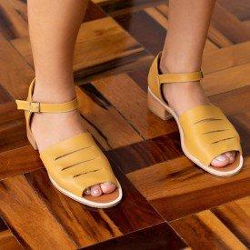 sandalia dafne amarelo